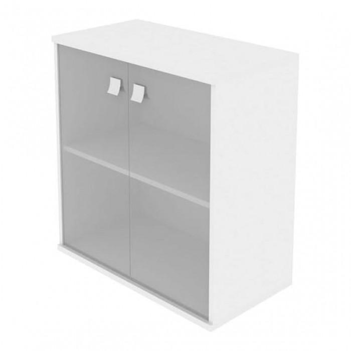 Шкаф низкий широкий 2 низкие двери стекло Style System