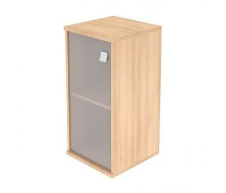 Шкаф низкий узкий 1 низкая дверь стекло Style System