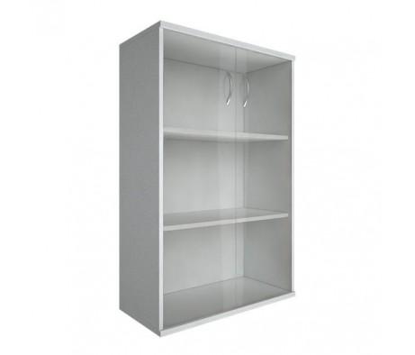 Шкаф средний широкий 2 средние двери стекло Riva