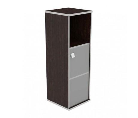 Шкаф средний узкий 1 низкая дверь стекло Style System
