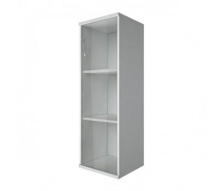 Шкаф средний узкий 1 средняя дверь стекло Riva