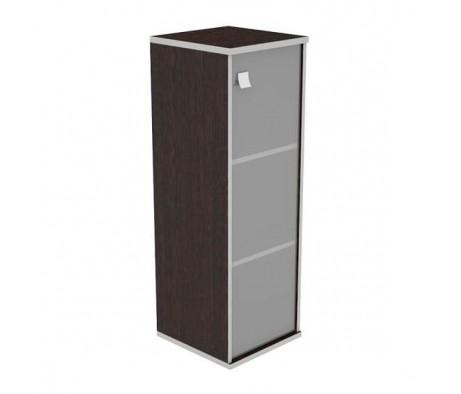 Шкаф средний узкий 1 средняя дверь стекло Style System