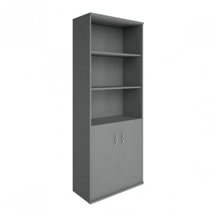 Шкаф высокий широкий 2 низкие двери ЛДСП Riva