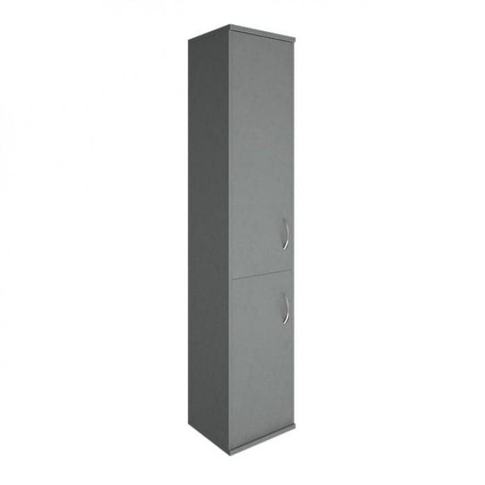 Шкаф высокий узкий 1 низкая дверь ЛДСП 1 средняя дверь ЛДСП Riva