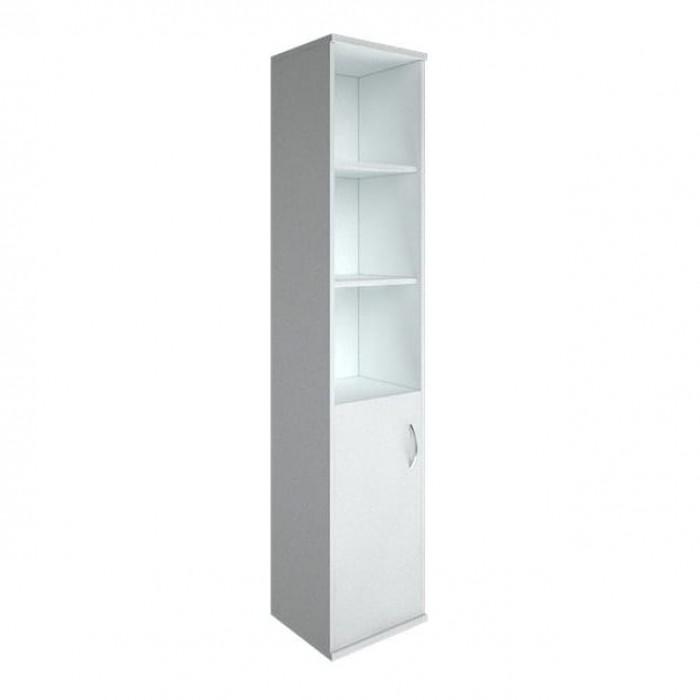 Шкаф высокий узкий 1 низкая дверь ЛДСП Riva