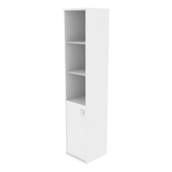 Шкаф высокий узкий 1 низкая дверь ЛДСП Style System