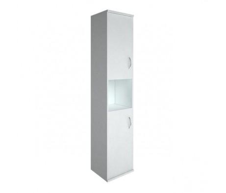 Шкаф высокий узкий 2 низкие двери ЛДСП Riva