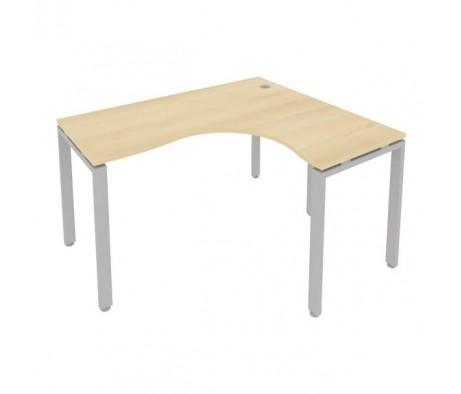 Стол криволинейный правый на П-образном м/к 140x120x75 Metal System