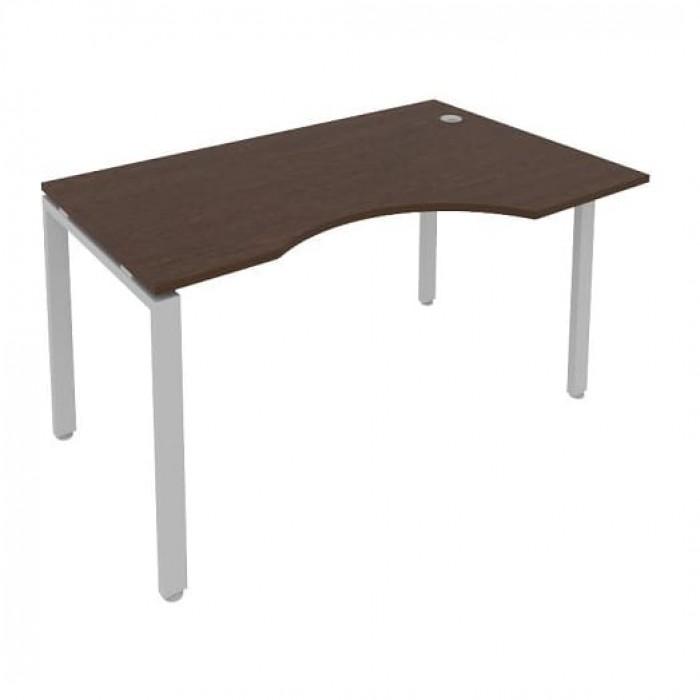 Стол криволинейный правый на П-образном м/к 140x90x75 Metal System