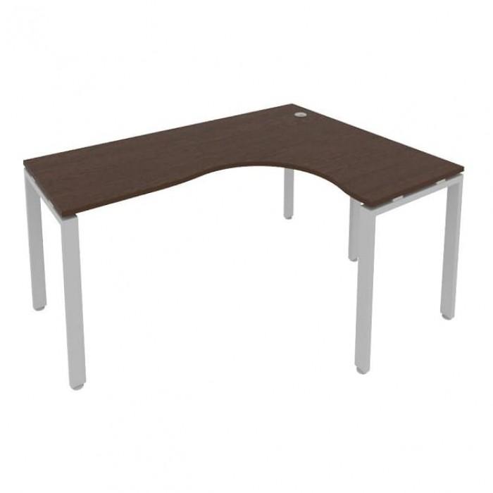 Стол криволинейный правый на П-образном м/к 160x120x75 Metal System