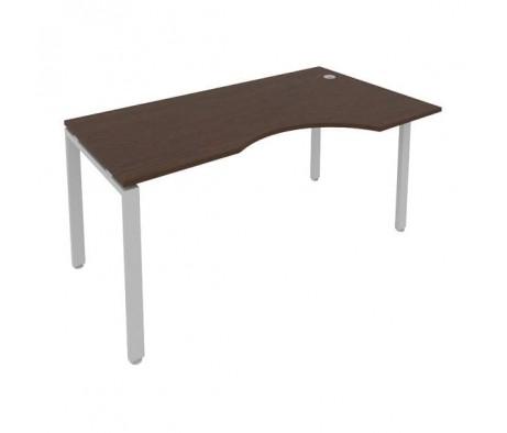 Стол криволинейный правый на П-образном м/к 160x90x75 Metal System