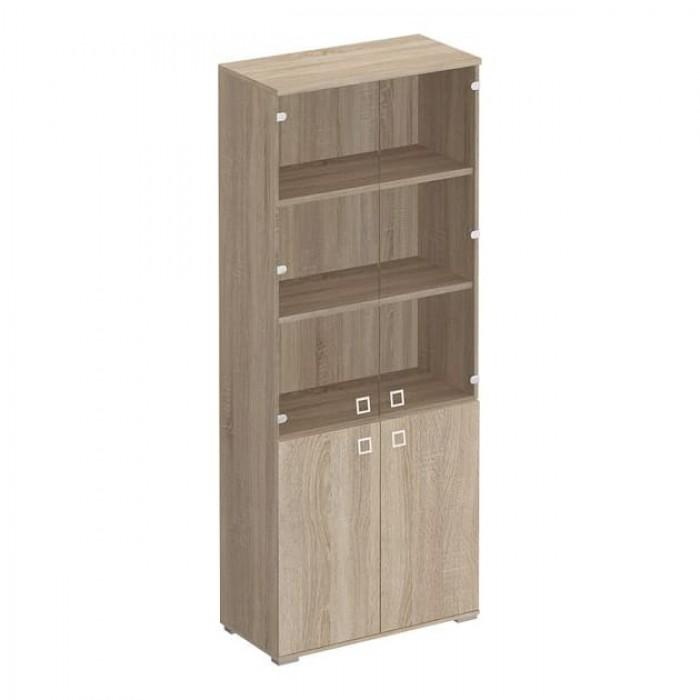 Шкаф для документов со стеклянными прозрачными дверьми 90,2x44,2x221 Cosmo