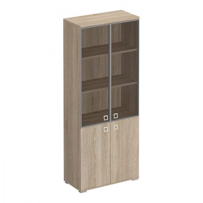 Шкаф для документов со стеклянными тонированными дверьми в рамке 90,2x44,2x221 Cosmo