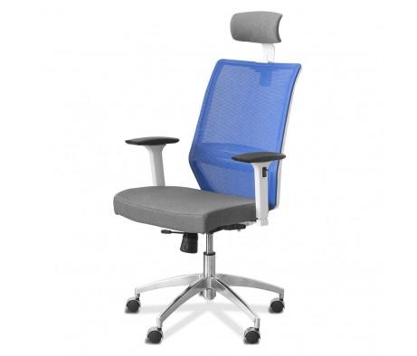 Кресло Aero lux с подголовником (белый каркас)