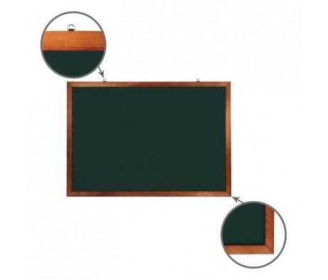 Доска для мела магнитная BRAUBERG 100х150 деревянная окрашенная рамка