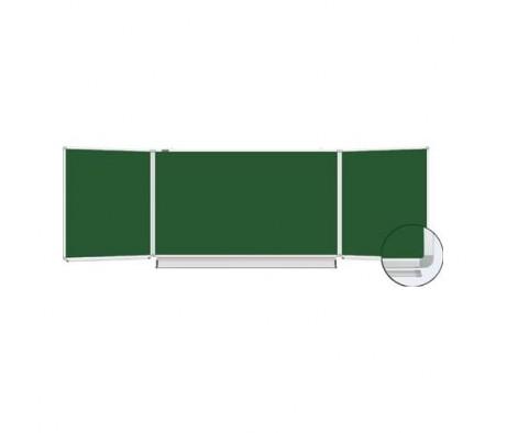 Доска для мела магнитная BRAUBERG 100х150x300 3х элементная 5 рабочих поверхностей