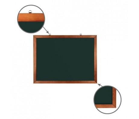 Доска для мела магнитная BRAUBERG 60х90 деревянная окрашенная рамка