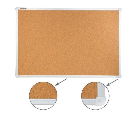 Доска пробковая BRAUBERG для объявлений 60х90 улучшенная алюминиевая рамка