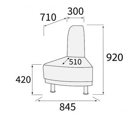 Модуль угловой 45 внешний Снейк
