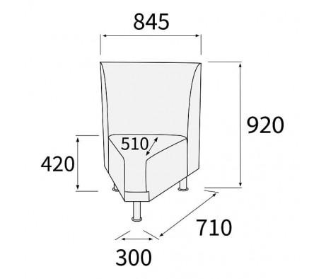 Модуль угловой 45 внутренний Снейк