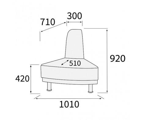 Модуль угловой 60 внешний Снейк
