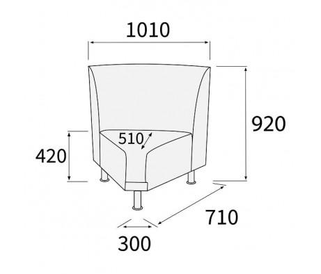 Модуль угловой 60 внутренний Снейк