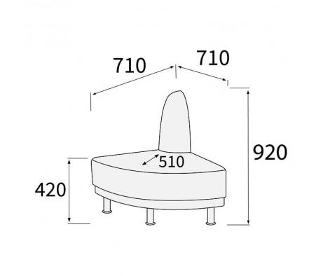 Модуль угловой 90 внешний Снейк