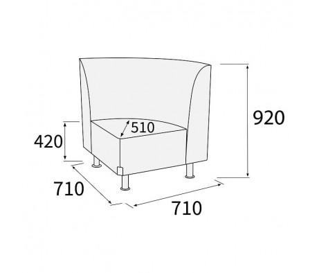 Модуль угловой 90 внутренний Снейк