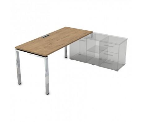 Стол рабочий прямолинейный три опоры, правый (1400*700*750) НСТП-П.979 Gloss Line
