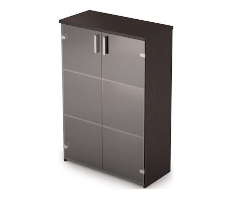 Шкаф для документов средий со стеклом (790*370*1190) 2Ш.017.3 Стиль