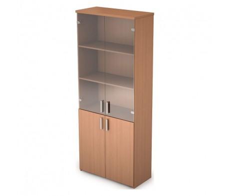 Шкаф для документов высокий со стеклом (790*370*1960) 2Ш.005.3 Стиль