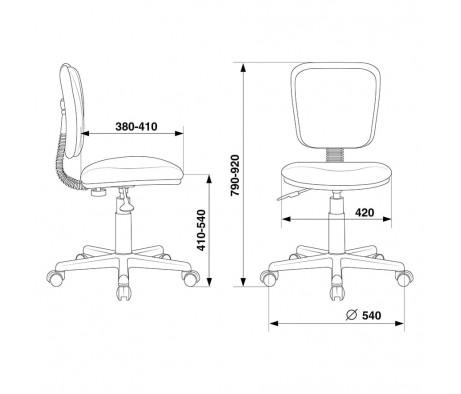 Кресло Бюрократ CH-204NX/PENCIL-BL