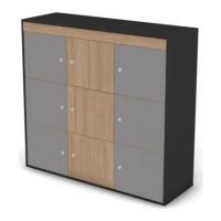 Шкаф-локер низкий, комплект дверей черный графит 121 Loft