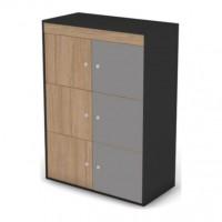 Шкаф-локер низкий, комплект дверей черный графит 80 Loft