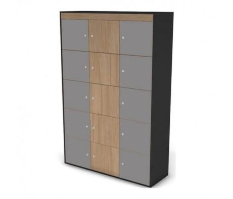 Шкаф-локер средний, комплект дверей черный графит 121 Loft