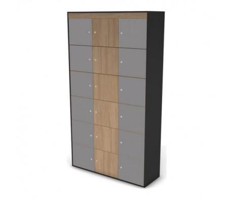 Шкаф-локер высокий, комплект дверей черный графит 121 Loft