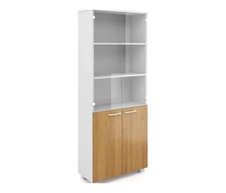 Шкаф книжный высокий со стеклом AL-2.2.+4.0+4.3 Alba
