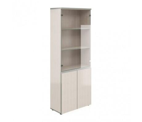 Шкаф широкий высокий со стеклом V-2.2+4.0+4.3+V*2 Bella Vita
