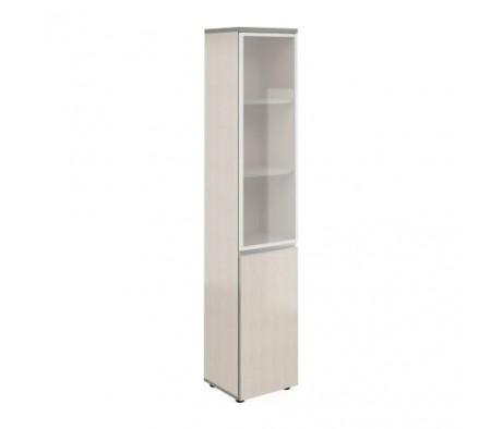 Шкаф узкий высокий со стеклом в алюм. раме V-2.6+4.0.1+4.4.1+ручка Bella Vita