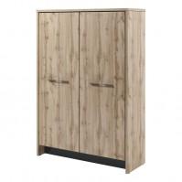 Шкаф двухсекционный (гардероб и стеллаж) Т-32-02 Торстон