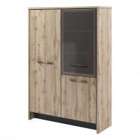 Шкаф двухсекционный (гардероб и стеллаж) Т-32-03 л/пр Торстон