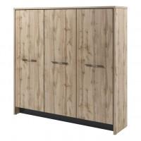 Шкаф трехсекционный (гардероб и 2 стеллажа) Т-33-03 Торстон