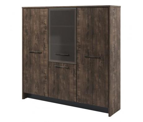 Шкаф трехсекционный (гардероб и 2 стеллажа) Т-33-04 л/пр Торстон