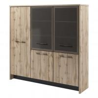 Шкаф трехсекционный (гардероб и 2 стеллажа) Т-33-05 Торстон