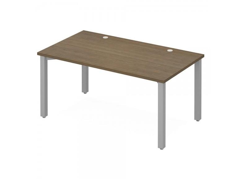 Стол офисный рабочий на металлических опорах ПК-ЭКС-СТ140Х80/МК/С-В1 Эксперт