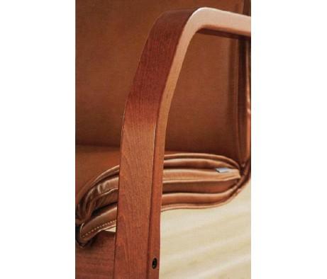 Кресло ЛОНДОН В, кожа, дерево