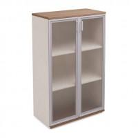 Шкаф стеклянный для документов H145xL90xS44 Prizma