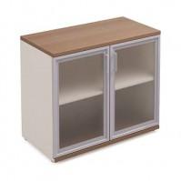 Шкаф стеклянный для документов H75xL90xS44 Prizma