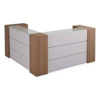 Стойка регистрационная угловая с двумя шкафами Prizma