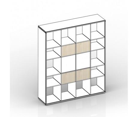 Комплект задних стенок малых для стеллажа 38,5х1,8х24,6 4шт Polo, Спэйс
